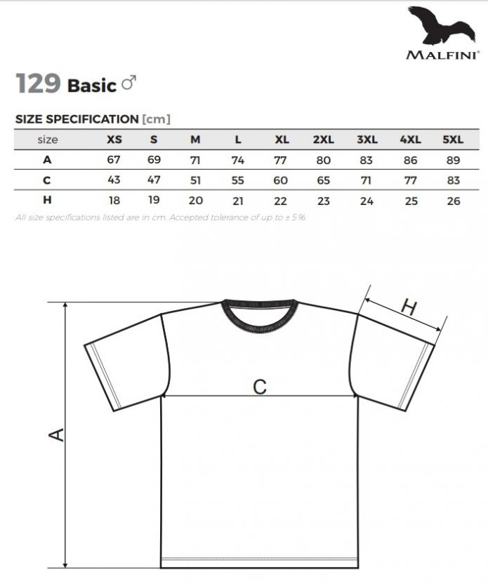 7f82cfd6a401b3 Koszulka T-shirt męska Basic - 100% bawełna - ADLER, odzież robocza ...